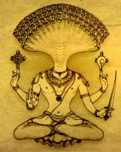 A traditional image of Sri Patanjali